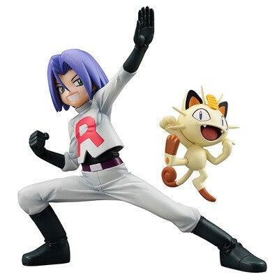 Pokemon Anime Figure James Meowth 1/8 Pokemon Go Figure PVC Action Model Toy 15cm