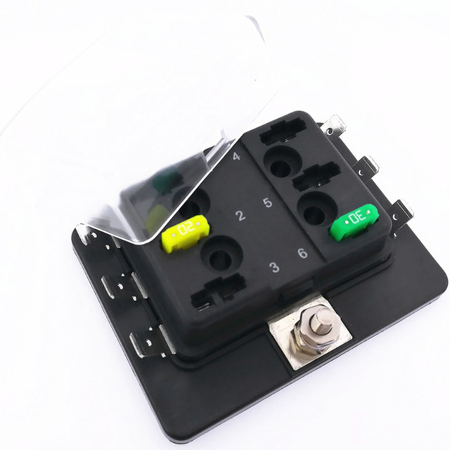 us $11 58 professional 12v 24v 32v universal 6 way mini blade fuse box holder with led warning light kit for car boat in fuses from automobiles \u0026 AC Fuse Holders