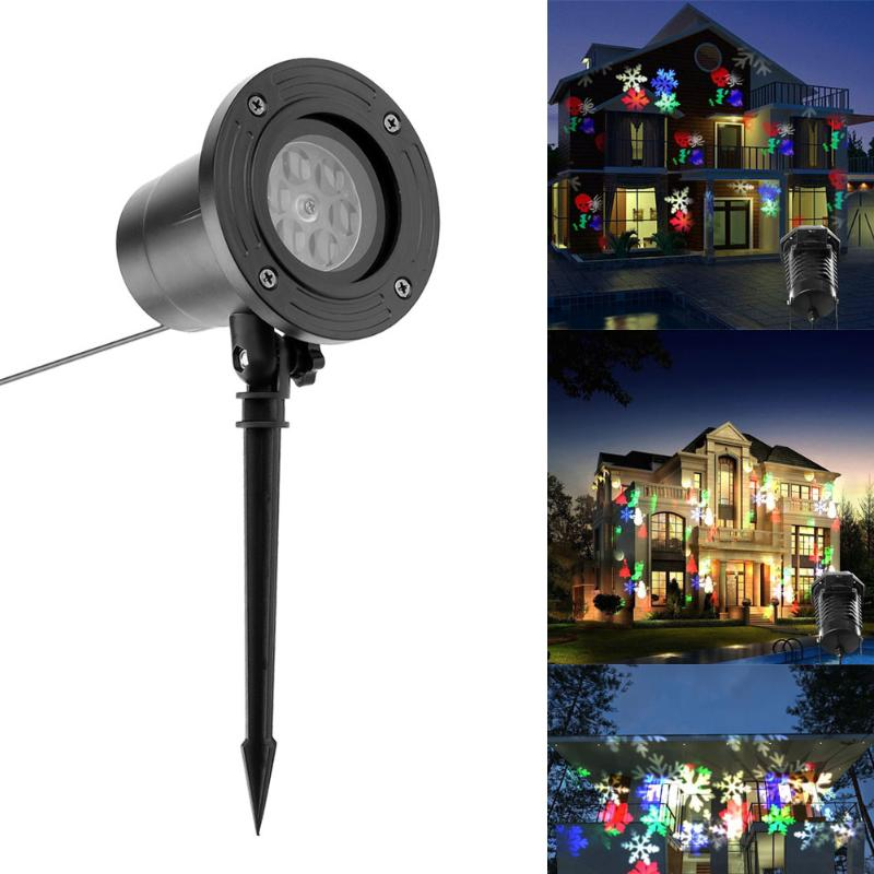 Christmas Light Outdoor Holiday Lights LED Snowflake Waterproof Projector Light Star Lawn Lamps Snow Lasers Lighting
