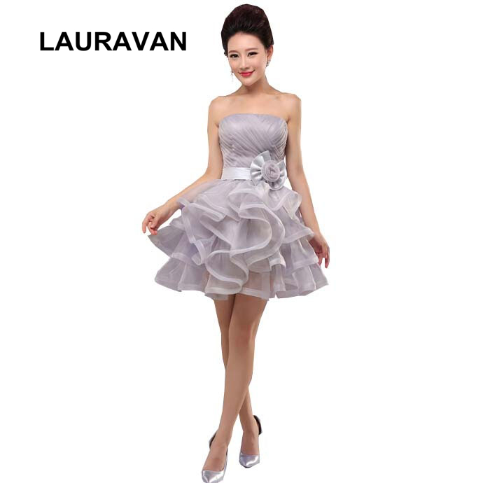 2020 New Fashion Light Blue Gray Red Knee Length Unique Puffy Princess Homecoming Dresses Teens Dress Short Design Ball Gown
