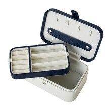 Новая кожаная красивая коробка для украшений Подарочная коробка Цветочный Стенд для ювелирных украшений женский макияж роскошные серьги Ушная коробочка для шпилек для хранения