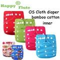 Genuine! Happy Flute 1 pcs super soft bamboo cotton baby cloth diaper