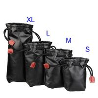 4 STKS Sml Xl Fashion PU Massaal Doek Lens Opbergtas Accessoire voor SLR Camera Lens Storage tas