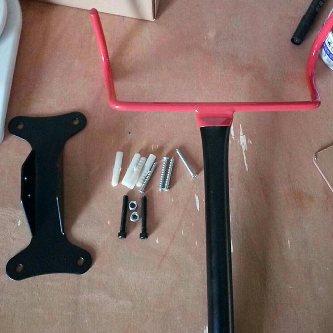 Bicycle Bike Holder Tough Steel Storage Parking Rack Mount Hanger Hook Garage Wall Bike Stand Rack Bicycle Hook Holder Racks Red