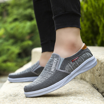 Men Casual Shoes Fashion Comfortable Soft Canvas Shoes for Men Breathable Lightweight Walking Footwear Adult Gift for Parents цена 2017