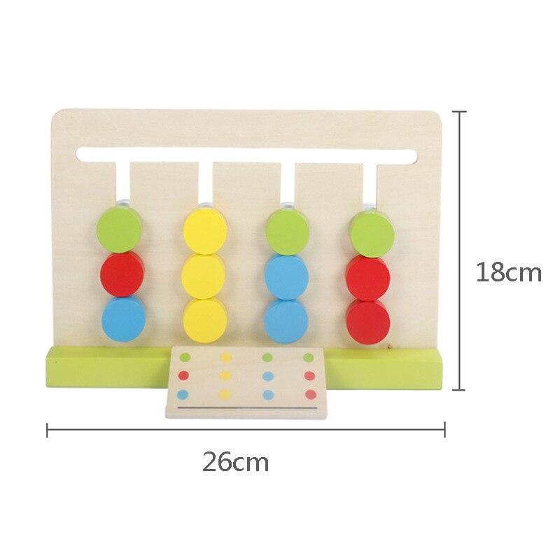 Montessori Education Jouets en bois Jeu de quatre couleurs - Concepteurs et jouets de construction - Photo 2