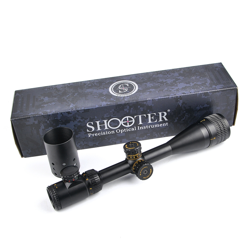 SHOOTER 4.5-18X44SFIR Tactical Riflescope Optic Sight R/G/B Illuminated Rifle Scope Airsoft Sniper Scope for Hunting Caza