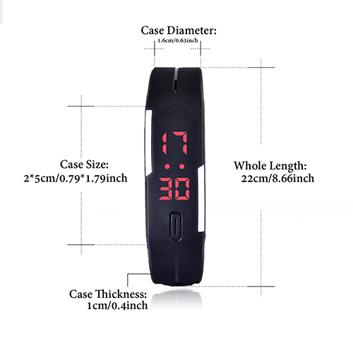 Heiße Art Und Weise Männer Candy Silikonband Touchscreen Quadrat Zifferblatt Digitale LED Wasserdicht Sport Armbanduhr Frauen Kinderuhren