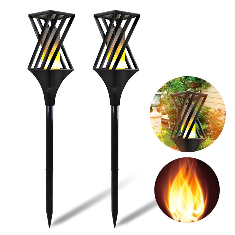 Solar Garden 96 LED Torch Lights Waterproof  Flame Lighting Landscape Lamp for Outdoor Garden Yard Lawn Driveway Decor Lamp 2pcs цена
