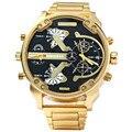 SHIWEIBAO A3137 Мужские Часы Dual Time Display Большой Циферблат Из Нержавеющей Стали Ремешок Мужчины Кварцевые Военные Наручные Часы relogio masculino