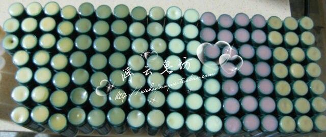 Hand for long lasting natural lip balm moisturizing
