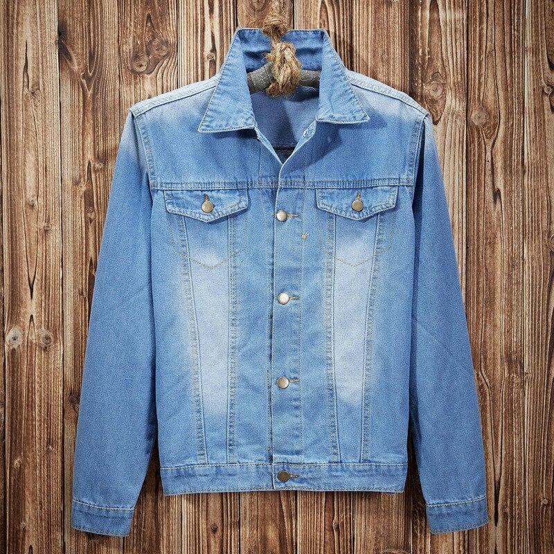 5aee749c9c4 Men Denim Jean Jacket Brand Korean Fashionable Mens Streetwear Trench Outerwear  Coat Wash Vintage Classic Varsity Jacket Casual -in Jackets from Men s ...