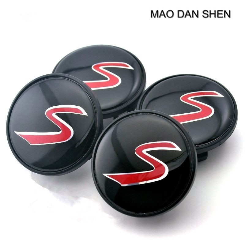 54.5mm/ 44mm Wheel Center Caps S Logo Car Emblem Fit For Mini Cooper 4pcs/set
