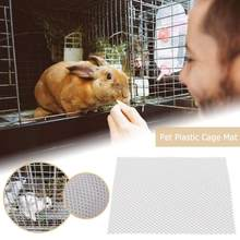 Pet Rabbit Cage Mat Pads Bed House Small Animal Guinea Pig Hamster Detachable Grids Holes Anti-slip Feet Pad Cleaning Cage Tool(China)