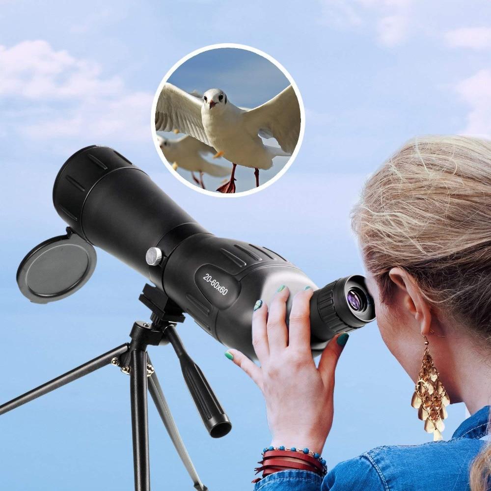 20-60x 60mm Zoom Angled Spotting Scope Monocular Telescope with Tripod20-60x 60mm Zoom Angled Spotting Scope Monocular Telescope with Tripod
