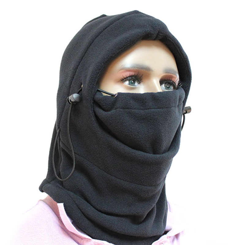 Winter Men Women Full Face and Neck Windproof Thermal Fleece Hood Swat Protective Mask Outdoor Working Safety Wear Accessories недорго, оригинальная цена