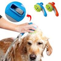 كلب القط رشاشات دش حوض الاستحمام للتدليك فرشاة الكلاب القطط الحصان التهيأ تنظيف غسل الشعر