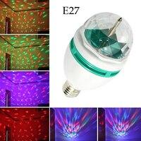 E27 Đảng Light Full Color Rotating Lamp LED Strobe Bóng Đèn Đa Tinh Thể Stage Light for Disco Sinh Nhật Câu Lạc Bộ Thanh Bên