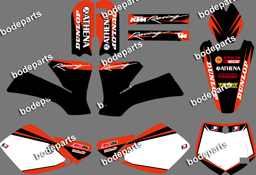 New monstor STEAM BACKGROUNDS <font><b>DECALS</b></font> STICKERS GRAPHICS Kits for <font><b>KTM</b></font> Motorcycle SX 65 2002 2003 2004 2005 2006 2007 <font><b>2008</b></font> image