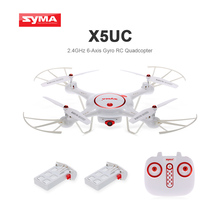 New Syma Drone X5UC RC Quadcopter 2.4G 4CH Hover Function Headless Mode, 2.0MP HD Camera, X5C Upgraded New Version-white