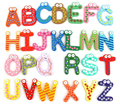 26Pcs/Set 26 Letters Numbers Signs Green Nontoxic Plastic Fridge Magnet Alphabet A to Z Whiteboard Baby Kids Toy