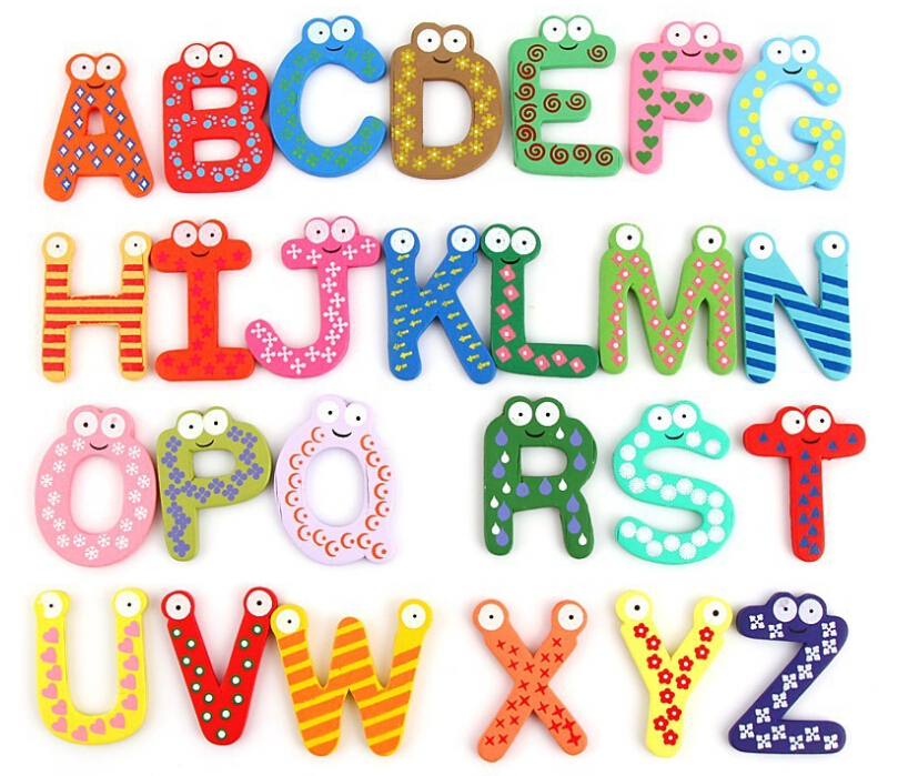 26pcsset 26 letters numbers signs green nontoxic plastic fridge magnet alphabet a to z whiteboard baby kids toy