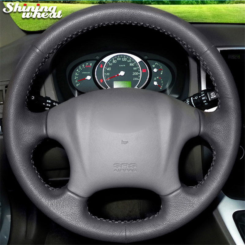 Shining wheat Hand-stitched Black Leather Car Steering Wheel Cover for Hyundai Tucson 2006-2014
