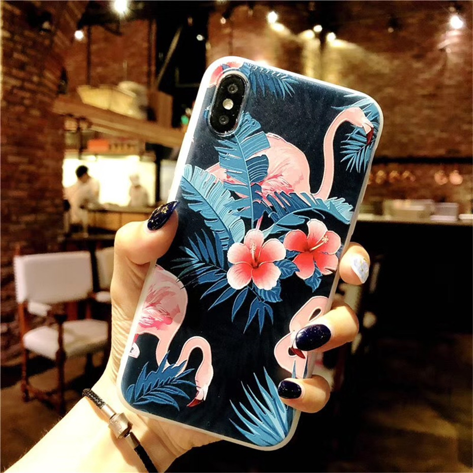 MOUSEMI Luxury 3D Silicone Case For iPhone 6 7 6S 8 Plus 5S SE X XS MAX XR Shockproof Flower Phone Case For iPhone 6 7 Case Girl (5)