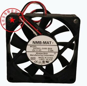 Nuevo Original de la NMB 2806KL-04W-B69 12 V 0.39A 70*70*15 MM 7 cm señal de alarma proyecto PLC XU1060C ventilador de refrigeración
