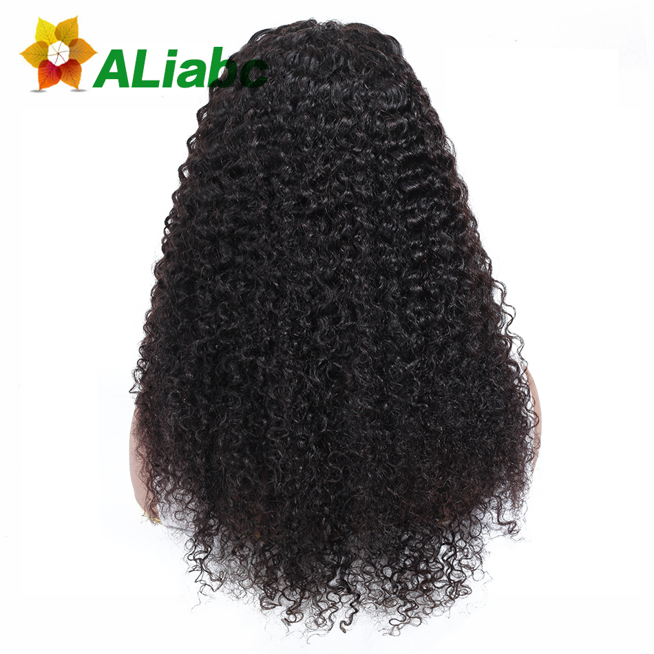 Aliabc 13 4 Lace Front Wigs Kinky Curly 100 Human Hair Wigs For Black Women Natural