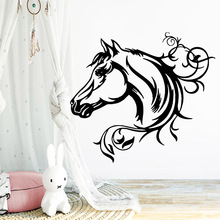 Wall Vinyl Horse Home Decor Vinyl Wall Stickers Decor Living Room Bedroom Removable Wall Decoration цена и фото