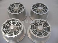 King Motor Aluminum Alloy Rims Wheels 24mm Hex Fits HPI Baja Truck 5T SC T1000