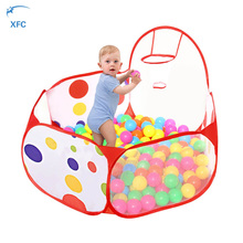 XFC Foldable Children Kids Play Tent Ocean Ball Pool BOBO Ball Pit with Hoop Playhouse Baby Gift