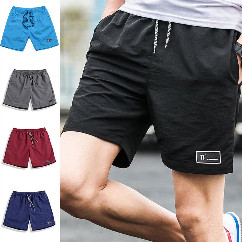 Yfashion Men Summer Thin Casual Sports Middle Length Pants
