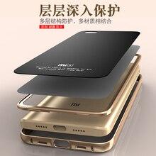 Para el caso de xiaomi mi5 marco del metal de aluminio de lujo + 9 h gorila cubierta de vidrio templado para xiaomi m5 mi 5 teléfono móvil original caso
