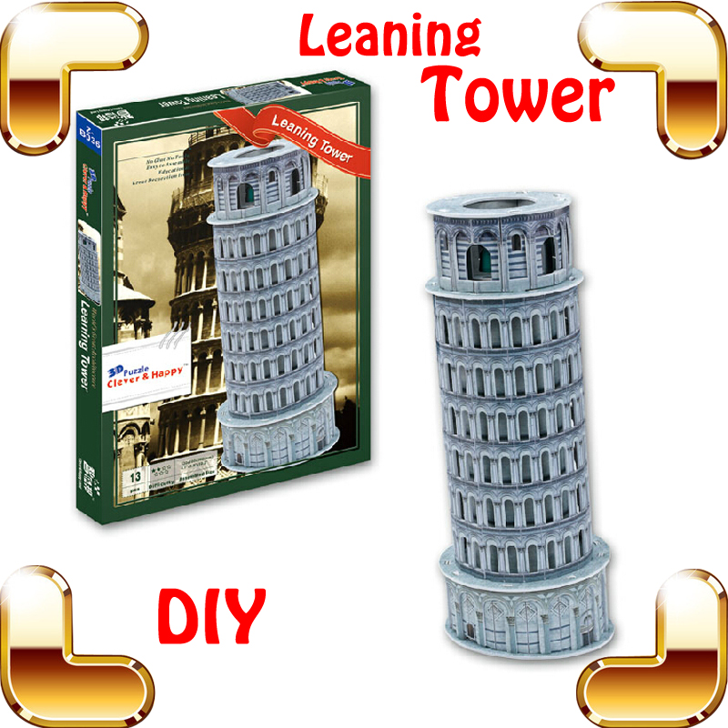New DIY Gift Leaning Tower of Pisa 3D Puzzle Tower Puzzle
