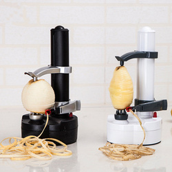 1PC New Electric Spiral Apple Peeler Cutter Slicer Fruit Potato Peeling Automatic Battery Operated Machine with Charger Eu Plug