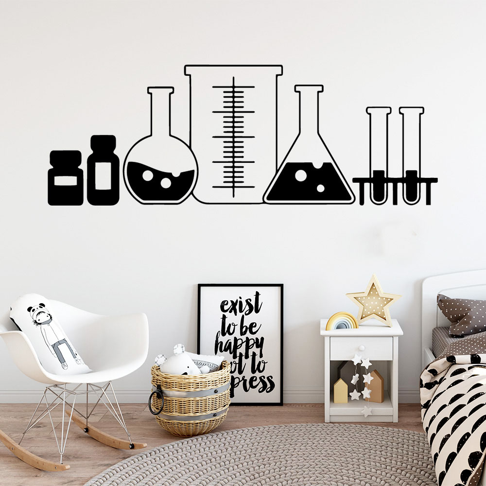 2019 New Chemical Funnel Wall Stickers Decorative Sticker Home Decor For Kids Babys Rooms Decoration Room Decor Wallstickers