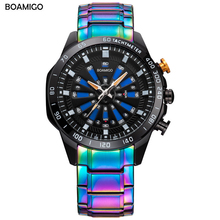 BOAMIGO digital watch men Creative Double display Multiple Time Zone Quartz watches Reloj deportivo para hombre new arrival 2019