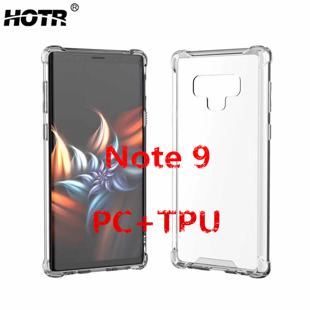 finest selection a2c5d 3fbc8 US $1.99 45% OFF|Note 9 Clear Case for Samsung Galaxy Note 9 Galaxy Note 9  Transparent Case for Samsung s9 S9 Plus TPU Frame+Hard PC Back Cover-in ...