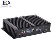 Безвентиляторный промышленный мини-ПК Windows 10 прочный ITX алюминиевый корпус Intel Core i3 4010u HTPC TV Box RS232 WiFi USB VGA Тонкий клиент PC