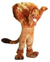 תלבושות קמע האריה אש 100% תמונה אמיתית חג מולד מבוגרים ליל כל הקדושים תלבושת תחפושת משלוח Suit חינם