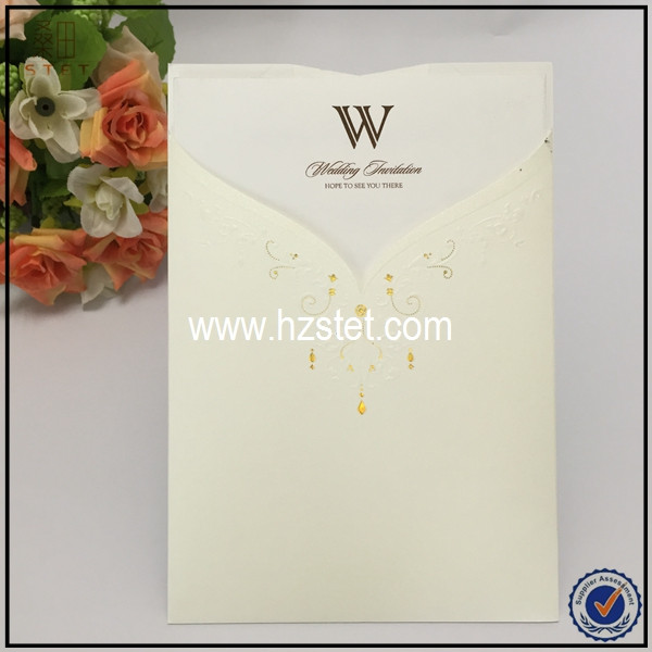 2016 new arrival carte d invitation bride groom wedding invitations with free envelope blank wedding cards