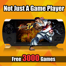 4.3 inch screen 8GB memory handheld game MP4 MP5 Player Games Console 3000 free games support ebook/TV-out/video1.3 MP Camera