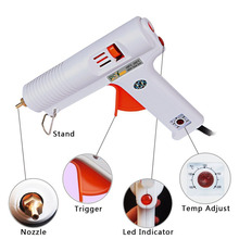 цена на 120W Adjustable Temperature Hot Melt Glue Gun Tools High Temp Heater 100-240V Paintless Dent Repair Tools Fit 11mm Glue Sticks