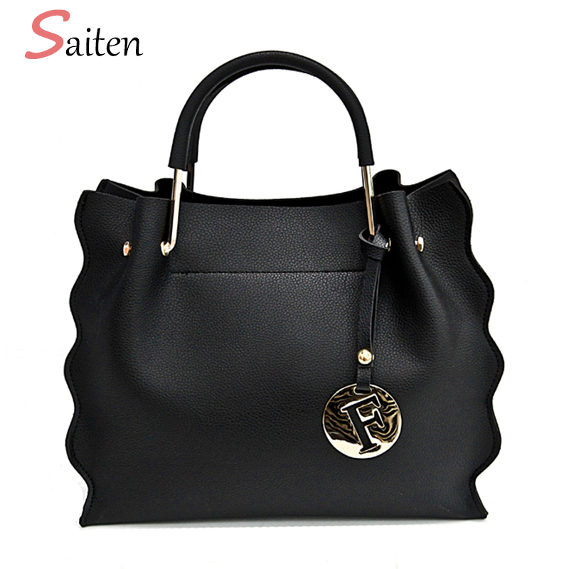 Fashion Metal Handle Tote Bag High Quality Leather Crossbody bags For Women Bag Vintage Female Composite Handbags Bolsa Feminina aosbos fashion portable insulated canvas lunch bag thermal food picnic lunch bags for women kids men cooler lunch box bag tote