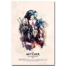 Geralt - The Witcher 3 Wild Hunt Art Silk Poster Print 13x20 24x36 inch Hot Game Yennefer Picture for Living Room Decoration 018
