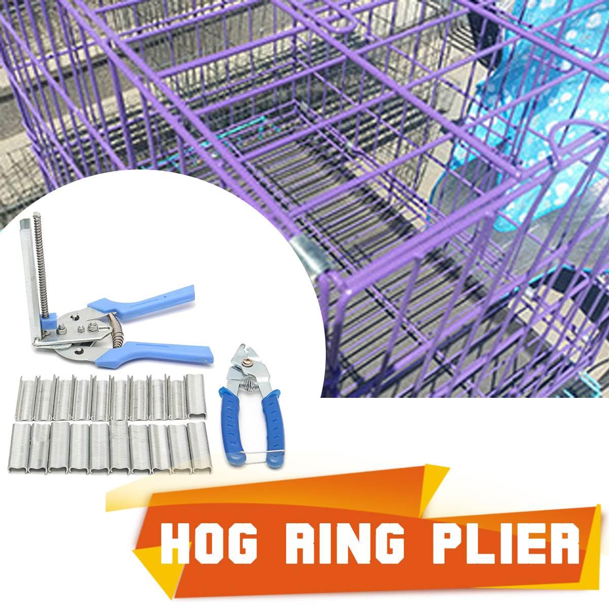 600 x Clips + Käfig clamp Geflügel Hog Ringzange Werkzeug Huhn Mesh ...