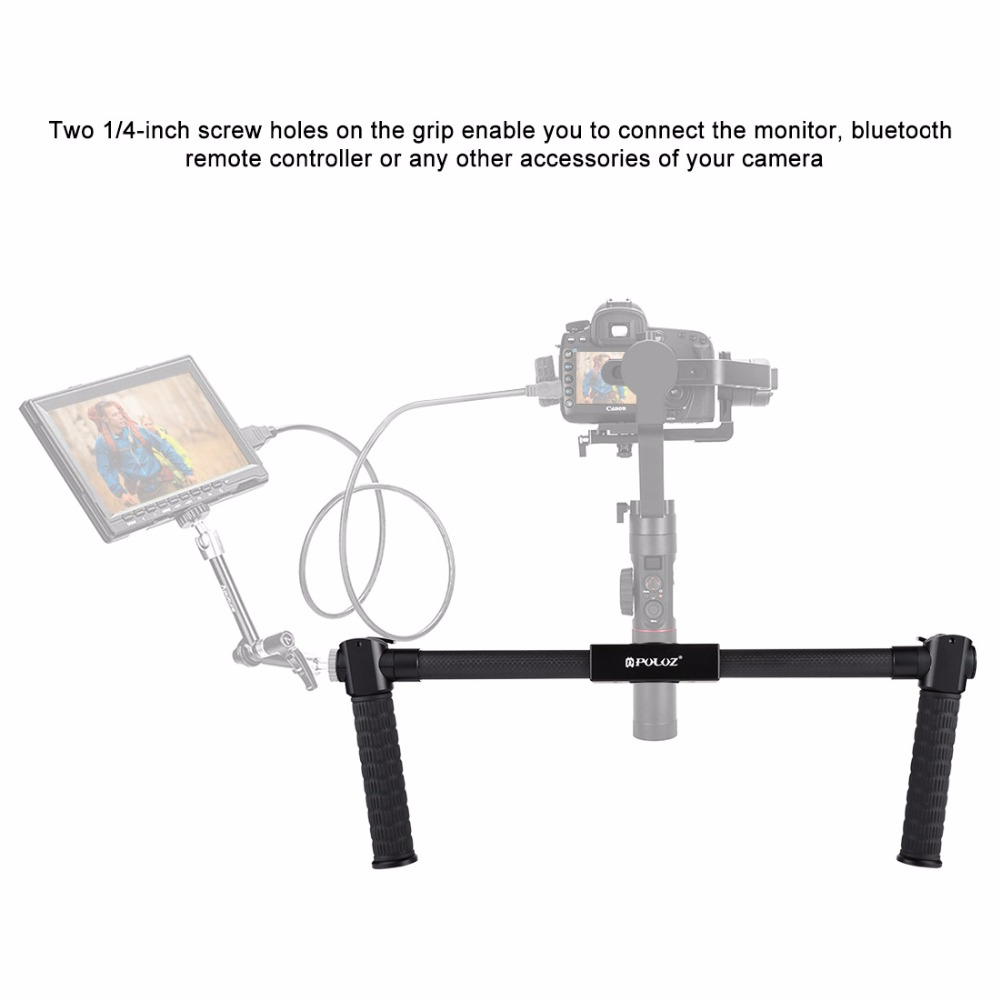 Carbon Fiber Metal Handheld Stabilizer With 1/4inch Screw Hole Stand Frame For Canon Nikon DSLR Cameras Photography Recording