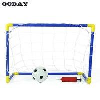 OCDAY Brinquedos Para As Crianças Mini Futebol futebol Poste da Baliza de Hóquei Net Set 2-em-1 Brinquedos Presente Engraçado Jogos de Esportes Ao Ar Livre Indoor